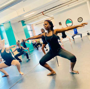 Students from The Lawrence Summer Dance Institute 2019 take class from teacher and choreographer Jean Appolon