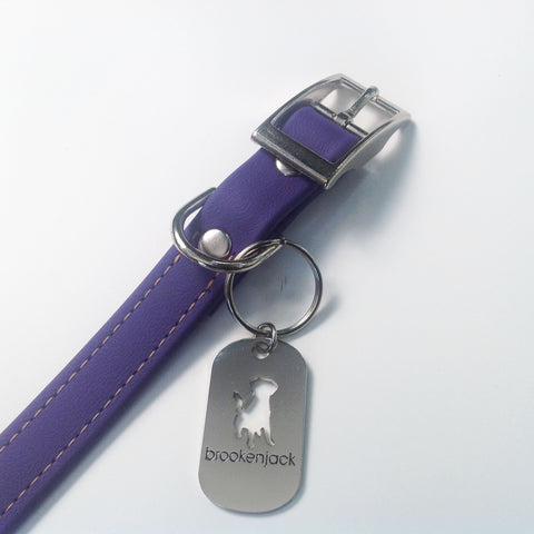 purple solid collar