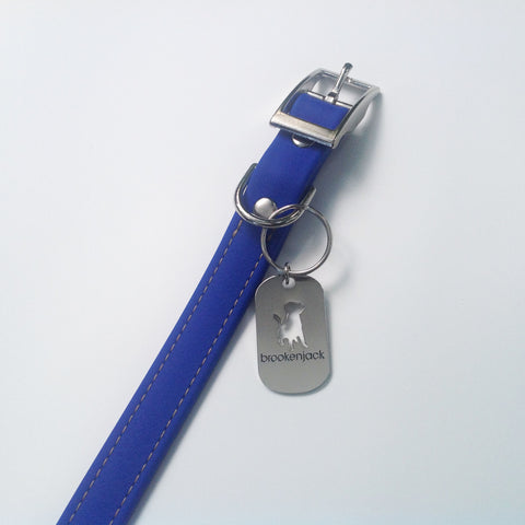blue solid collar