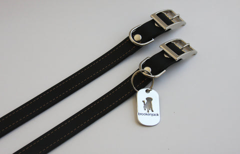 black solid collar