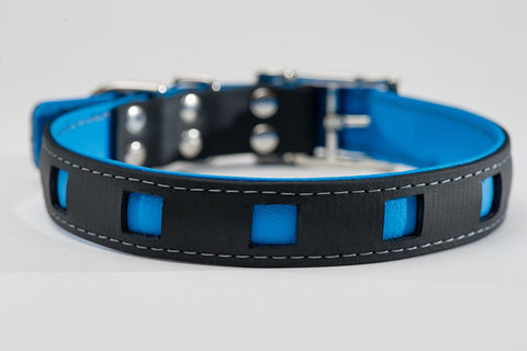 black on blue - square