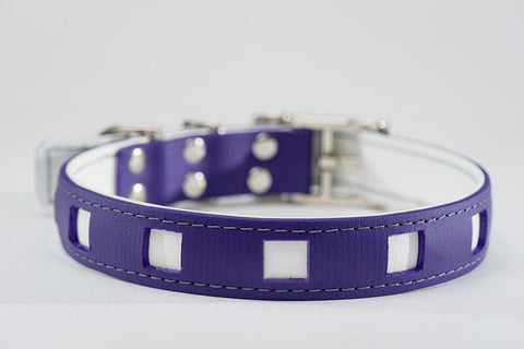 purple on white - square