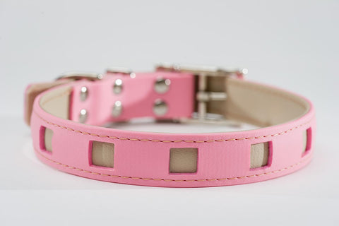 pink on beige - square