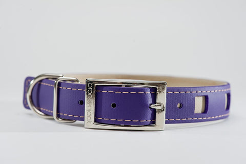 purple on beige - square