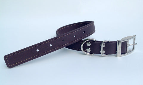 brown solid collar