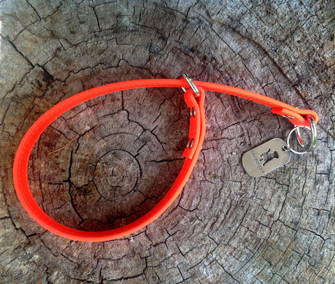 orange slip collar - $20
