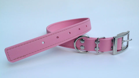 pink solid collar