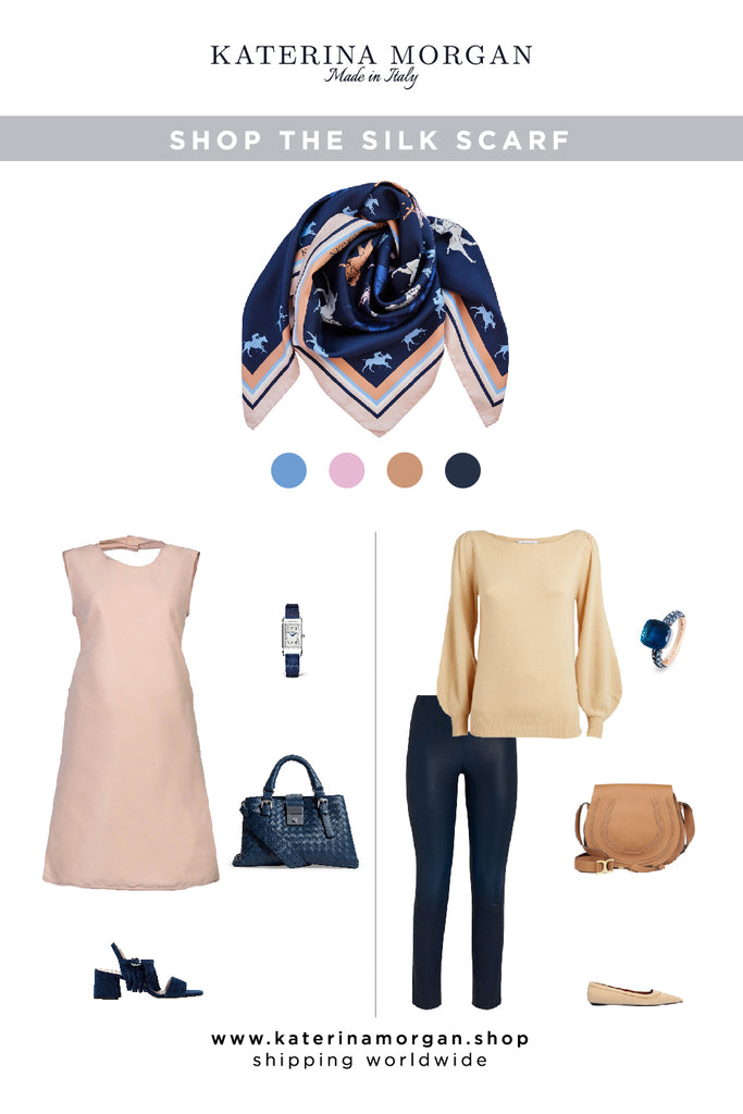 Beige and navy stylish outfits