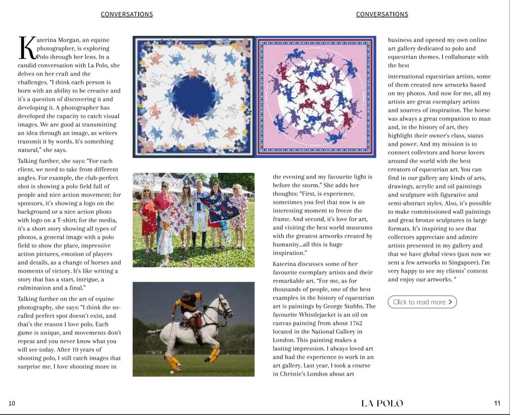 La polo India interview about polo silk scarves