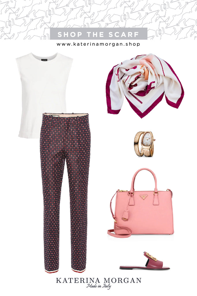 Burgundy and pink chic