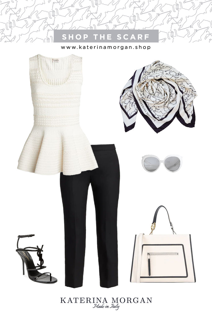 Black and white elegance outfit
