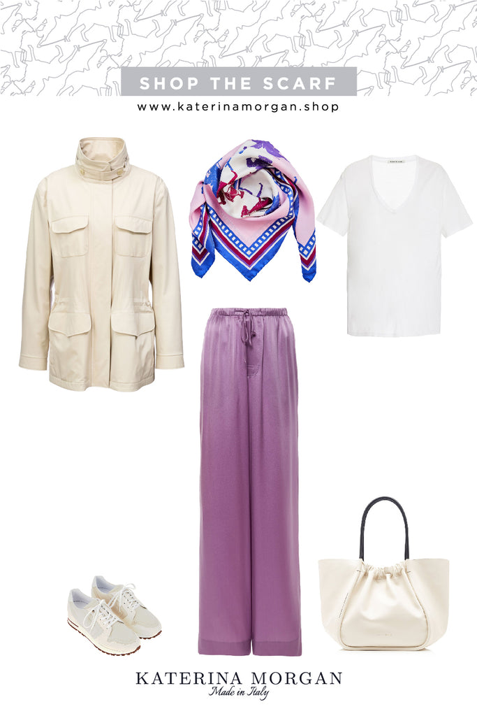 Champagne, burgundy and blue colours outfit