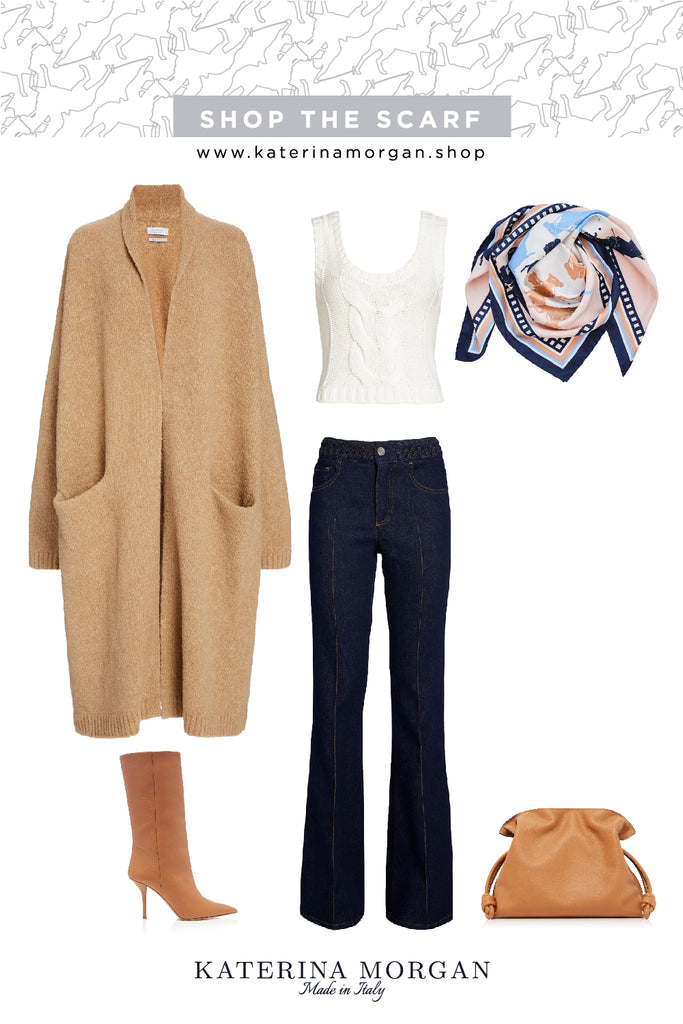 Beige and navy for cosy winter days