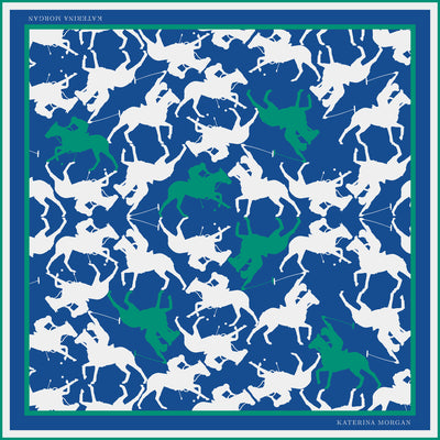Buy horse polo design silk scarf