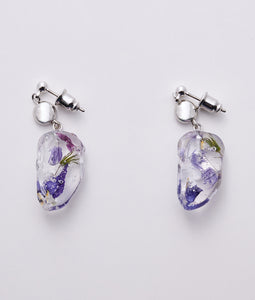 〈mellow〉DEBRIS FLOWER PIERCE /デブリフラワーピアス(BLUE)