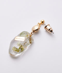 〈mellow〉DEBRIS FLOWER PIERCE /デブリフラワーピアス(GREEN)