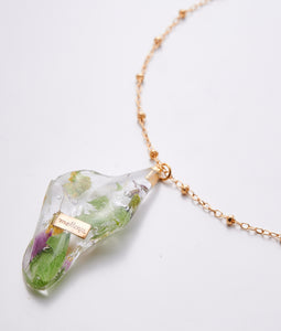 〈mellow〉FLOWER NECKLACE /フラワーネックレス(GREEN)