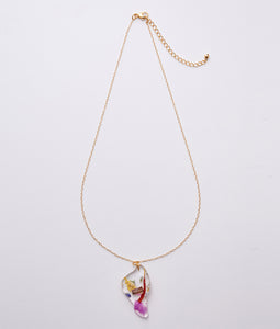 〈mellow〉FLOWER NECKLACE /フラワーネックレス(PINK)