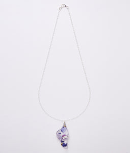〈mellow〉FLOWER NECKLACE /フラワーネックレス(BLUE)