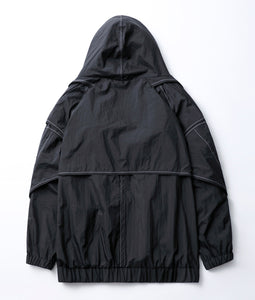 〈BALMUNG〉KASANE HIGH NECK BIG PARKER / 重ねハイネックビッグパーカー(BLACK)