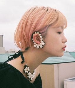 〈lilibySERI〉FUCHIDORI EAR HOOPS No,2/フチドリイヤーフープ(MULTI)