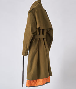 〈APOCRYPHA.〉3WAY TRENCH COAT / スリーウェイトレンチコート(OLIVE×ORANGE)