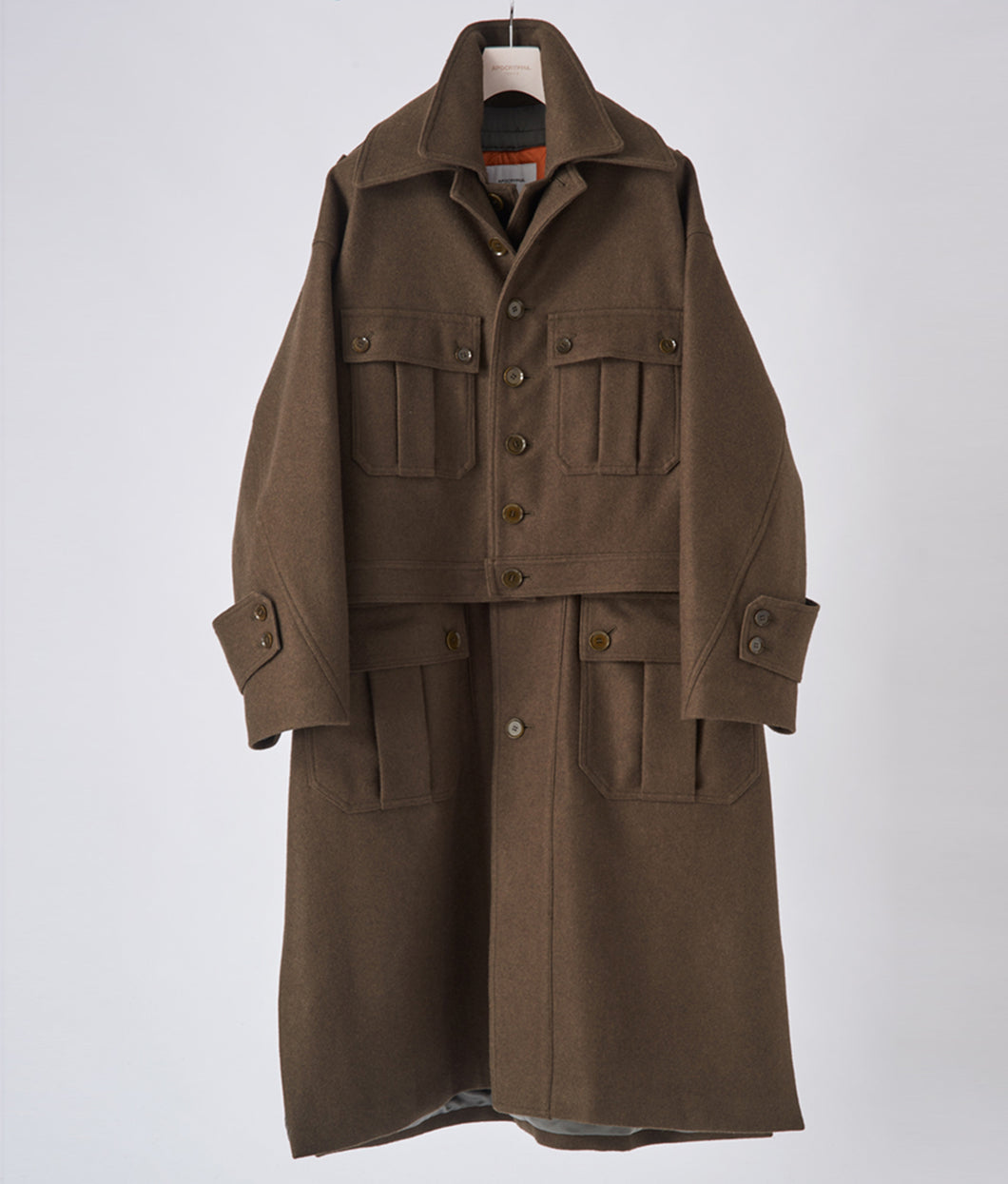 〈APOCRYPHA.〉3WAY FIELD COAT / スリーウェイフィールドコート(OLIVE×ORANGE)