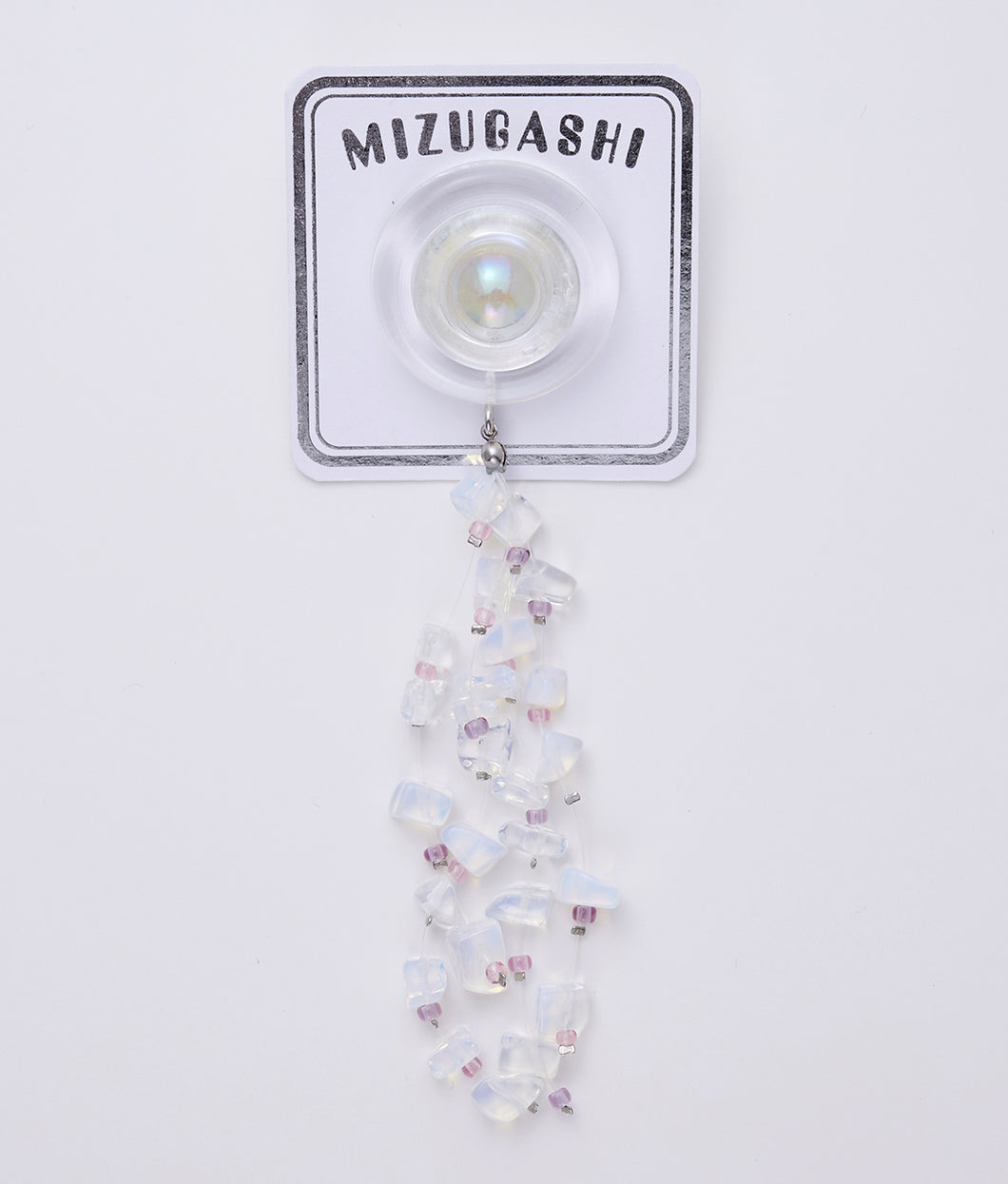 〈MIZUGASHI〉ONE EAR PIERCE No,2 /ワンイヤーピアス(CLEAR)