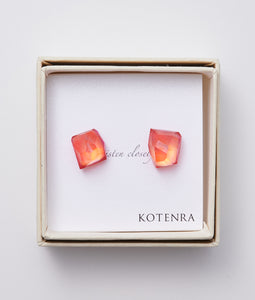 〈KOTENRA〉COLOR QUARTZ PIERCE No,3 /カラークォーツピアス(PINK)