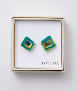 〈KOTENRA〉COLOR QUARTZ PIERCE No,5 /カラークォーツピアス(GREEN)