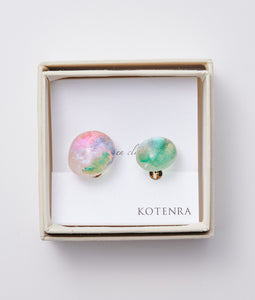 〈KOTENRA〉COLOR  WATER EARRINGS No,5  /カラーウォーターイヤリング(GREEN)