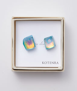 〈KOTENRA〉COLOR QUARTZ PIERCE No,6 /カラークォーツピアス(LtBLUE)