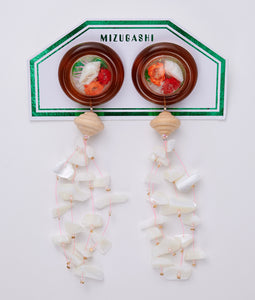 〈MIZUGASHI〉PIERCE SNOW DOME /ピアススノードーム(BROWN)
