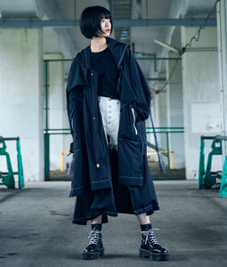 〈BALMUNG〉KASANE LONG COAT / 重ねロングコート(BLACK)