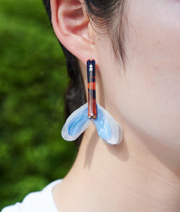 "〈KOTENRA〉COLOR  AIR ""LEAF"" TOROPICAL No.4  /カラーエアリーフトロピカル(ORANGE×BLUE)"