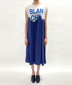 〈QUI×YEAH RIGHT!!〉BLANCHE DRESS / ブランチドレス with Michelle(BLUE)