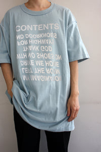 〈BODYSONG.〉TEE/CONTENTS / Tシャツ/コンテンツ(BLUE)