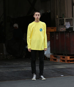 〈GLANCE〉EARTH LONG T-SHIRT/アースロングTシャツ(YELLOW)