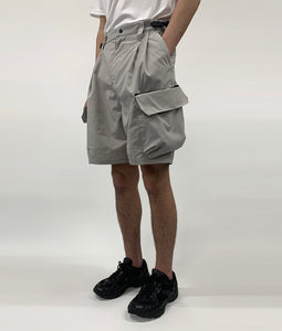 〈meanswhile〉LUGGAGE CARGO SHORTS / ラゲージカーゴショーツ(GREY)