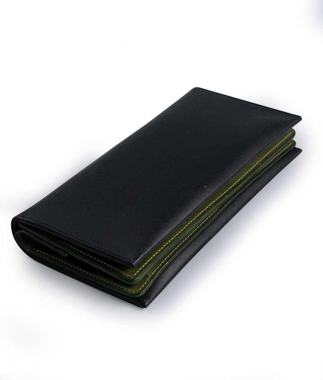 〈LIM DESIGN〉LONG WALLET / ロングウォレット (BLACK×GREEN)