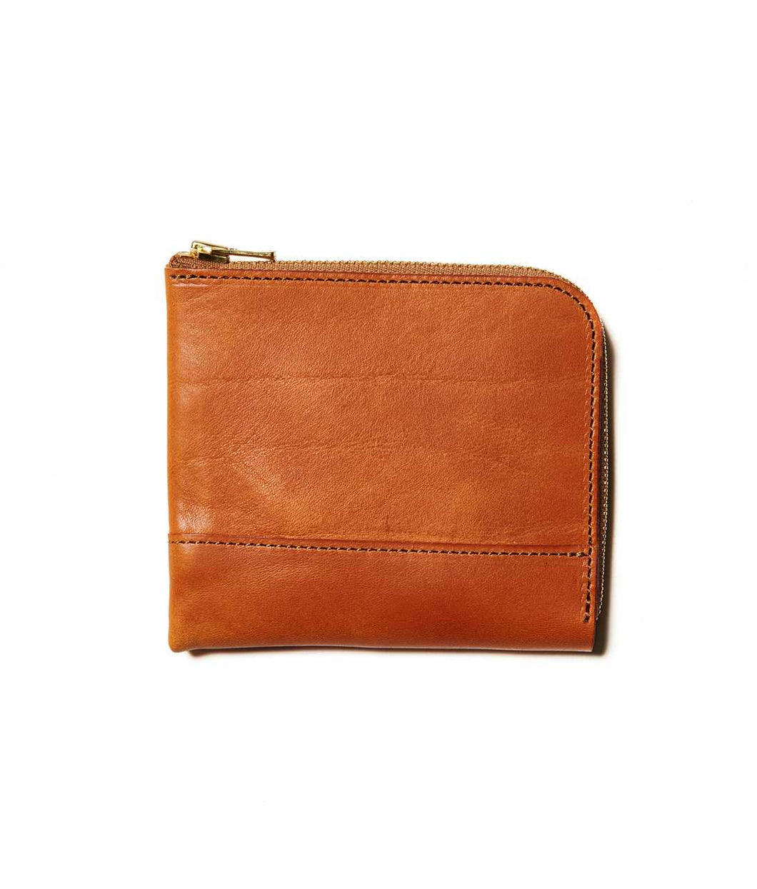 〈LIM DESIGN〉L Zip Small Wallet / Lジップスモールウォレット (BROWN)