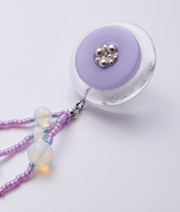 〈MIZUGASHI〉EARRINGS STONE /イヤリングストーン(PURPLE)