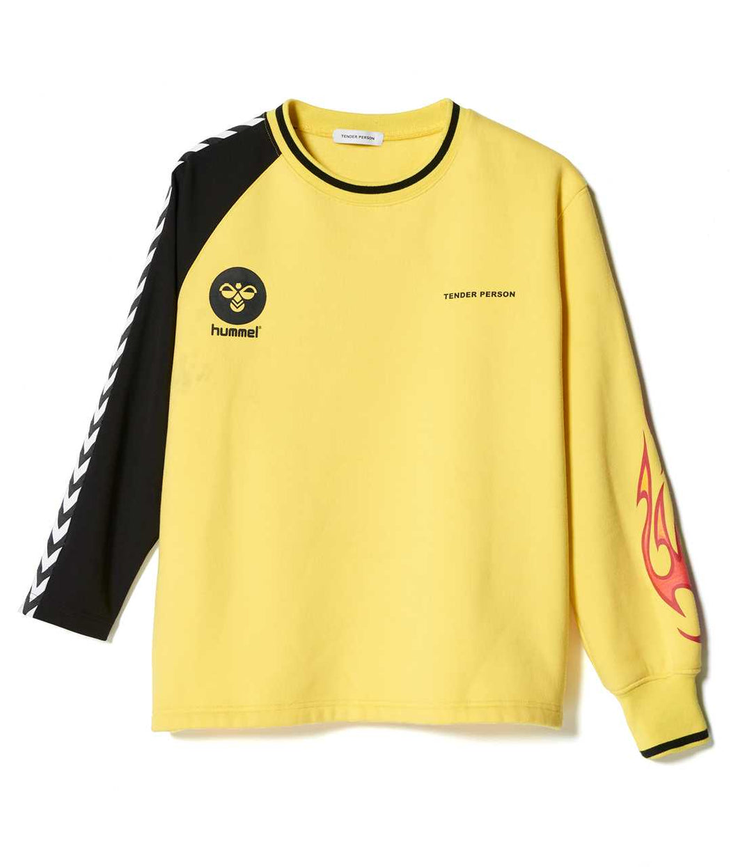 〈TENDER PERSON〉SPORTS JARSEY&SWEAT / hummelコラボ ジャージースウェット (YELLOW)