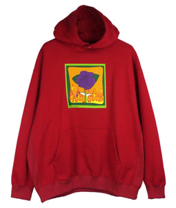 〈TENDER PERSON〉ROSE HOODIE / プリントフーディー (RED)