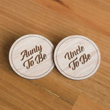 Baby Shower Badges | Uncle | Aunty To Be