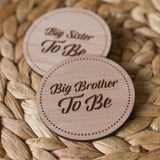 Baby Shower Badges | Big Brother | Big Sister To Be
