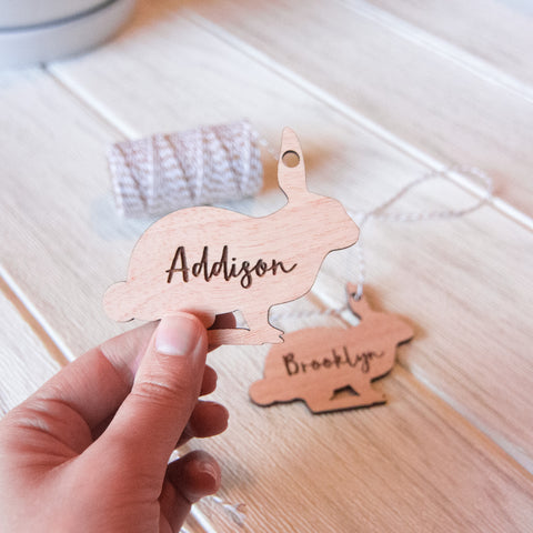 Personalised Easter Bunny Name Tag