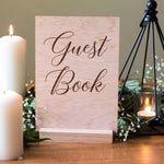 Engraved Wood Guest Book Sign