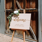 Engraved Wood Welcome Sign