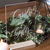 Engraved Clear Acrylic Cards & Gifts Sign